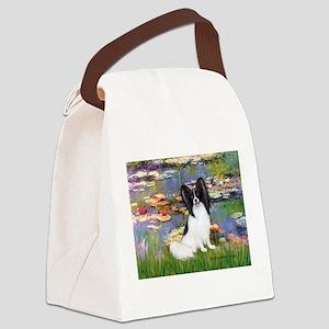 Lilies (2) & Papillon Canvas Lunch Bag