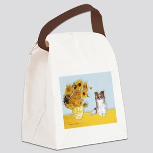 Sunflowers / Papillon(f) Canvas Lunch Bag