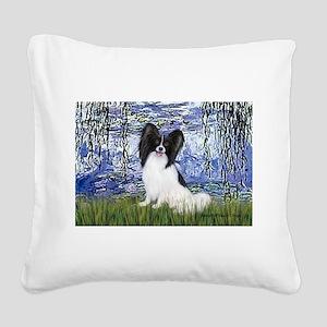 Lilies (#6) & Papillon Square Canvas Pillow