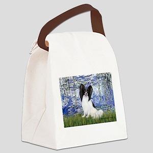 Lilies (#6) & Papillon Canvas Lunch Bag