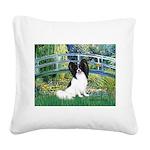 Bridge & Papillon Square Canvas Pillow
