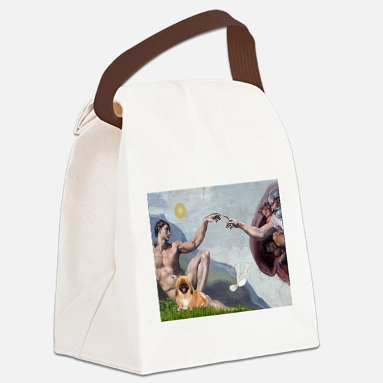 Creation/Pekingese(r) Canvas Lunch Bag