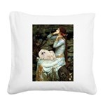 Ophelia /Pekingese(w) Square Canvas Pillow