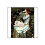 Ophelia /Pekingese(w) Square Sticker 3