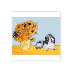 Sunflowers/PBGV Square Sticker 3