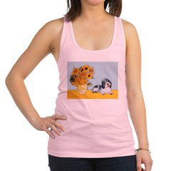 Sunflowers/PBGV Racerback Tank Top