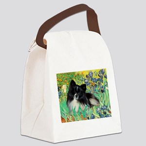 Irises / Pomeranian(bb) Canvas Lunch Bag