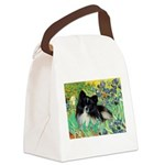 Irises / Pomeranian(bb) Canvas Lunch Bag