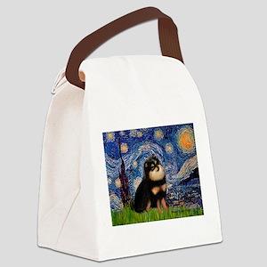 Starry Night / Pomeranian(b&t) Canvas Lunch Bag