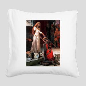 Accolade/4 Pomeranians Square Canvas Pillow