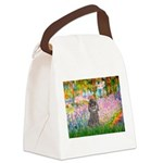 Garden / Poodle (Silver) Canvas Lunch Bag