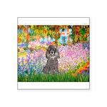 Garden / Poodle (Silver) Square Sticker 3