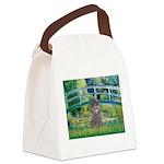 Bridge / Poodle (Silver) Canvas Lunch Bag