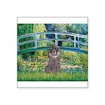 Bridge / Poodle (Silver) Square Sticker 3