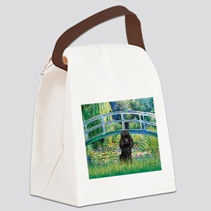 Bridge / Poodle (Black) Canvas Lunch Bag