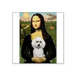 Mona Lisa / Poodle(w) Square Sticker 3
