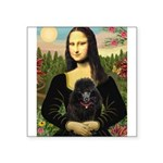 Mona / Poodle (bl) Square Sticker 3