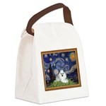 Starry Night / Poodle(w) Canvas Lunch Bag