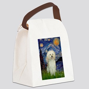 Starry / Poodle (White) Canvas Lunch Bag