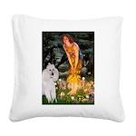 Fairies / Std Poodle(w) Square Canvas Pillow