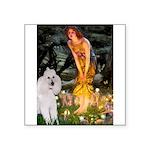 Fairies / Std Poodle(w) Square Sticker 3
