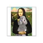 Mona Lia/Std Poodle (silver) Square Sticker 3
