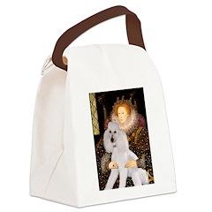 Queen / Std Poodle(w) Canvas Lunch Bag
