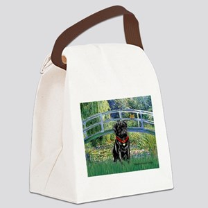 Bridge / Black Pug Canvas Lunch Bag