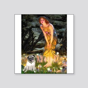 "Fairies & Pug Square Sticker 3"" x 3"""