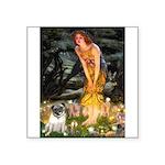 Fairies & Pug Square Sticker 3