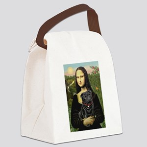 Mona's Black Pug Canvas Lunch Bag