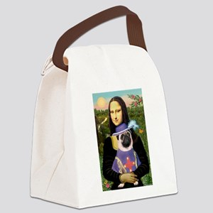 Mona & Sir Pug Canvas Lunch Bag