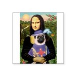 Mona & Sir Pug Square Sticker 3