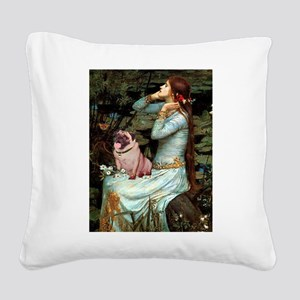 Ophelia / Fawn Pug Square Canvas Pillow