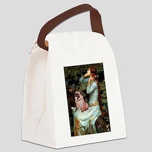 Ophelia / Fawn Pug Canvas Lunch Bag