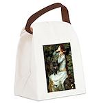 Ophelia (2) & Black Pug Canvas Lunch Bag