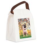 Spring / Pug Canvas Lunch Bag