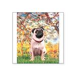Spring / Pug Square Sticker 3