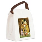 The Kiss / Pug Canvas Lunch Bag