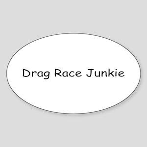 Drag Racing Junkie Sticker (Oval)