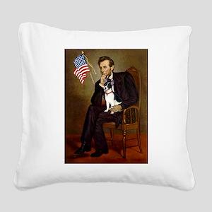 Lincoln / Rat Terreier Square Canvas Pillow