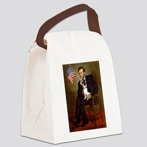Lincoln / Rat Terreier Canvas Lunch Bag