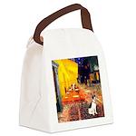 Cafe / Rat Terrier Canvas Lunch Bag