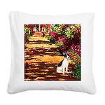 Path / Rat Terrier Square Canvas Pillow