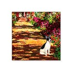 Path / Rat Terrier Square Sticker 3