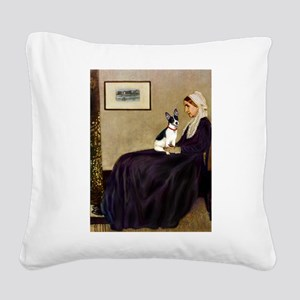 Whistler's / Rat T Square Canvas Pillow