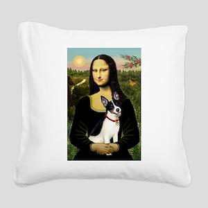 Mona / Rat Terrier Square Canvas Pillow