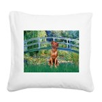 Garden / R Ridgeback Square Canvas Pillow