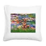Lilies / R Ridgeback Square Canvas Pillow