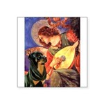 Mandolin Angel/Rottweiler Square Sticker 3